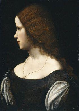 Follower of Leonardo da Vinci Portrait of a Young Lady, c. 1500. NGA, Washington, DC  #TuscanyAgriturismoGiratola