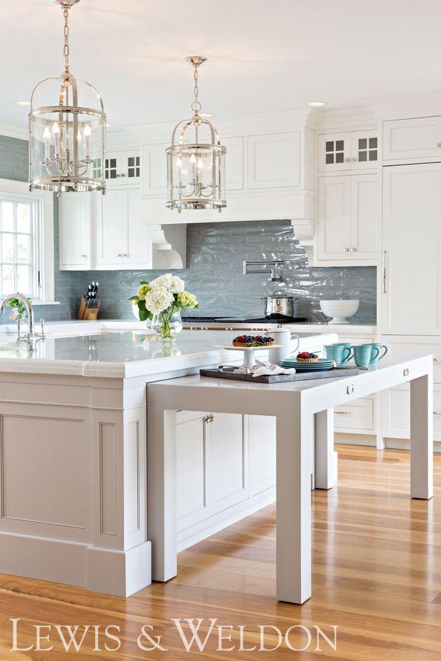 Classic White Kitchen With Space Saving Design Idea In 2020 Kitchen Furniture Kitchen Island Table Kitchen Remodel