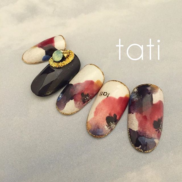 tati 竹原千晴 VETRO Art director @tati_nail 〜リキッドフラワ...Instagram photo | Websta (Webstagram)