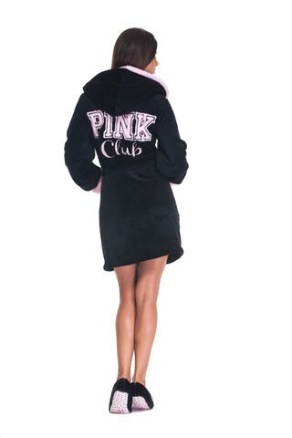 Poppy DK Pink Club köntös - fekete  Bathrobe