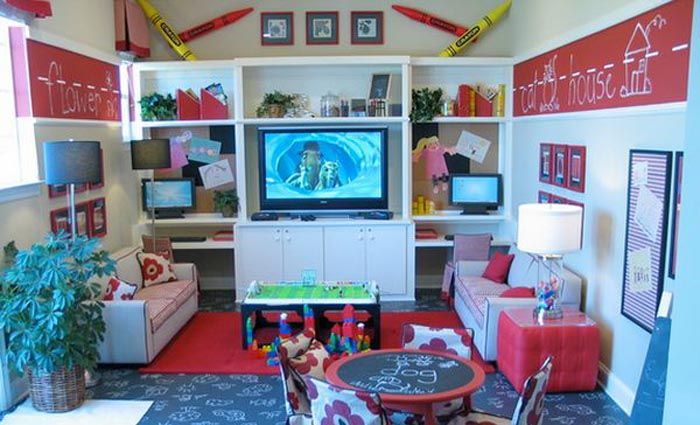 How to make a children's playroom: useful design ideas. More information: http://wonderdump.com/how-to-make-a-childrens-playroom-useful-design-ideas/