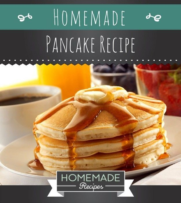 Easy Homemade Pancake Recipe You'll Love | https://homemaderecipes.com/homemade-pancake-recipe/