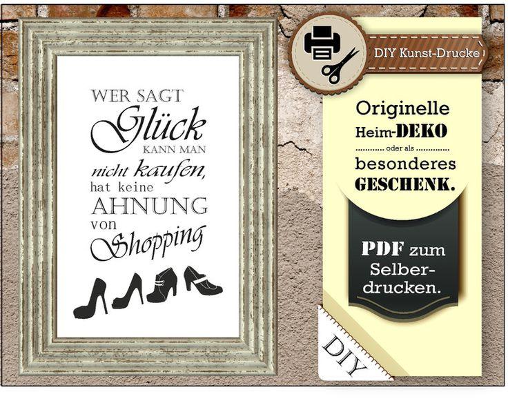 Lustige Sprüche für colle Deko - Originell mit Witz & Charakter - Kunst-Druck « Wand-Bild zum Selberdrucken »  von animoART - Shop auf DaWanda.com
