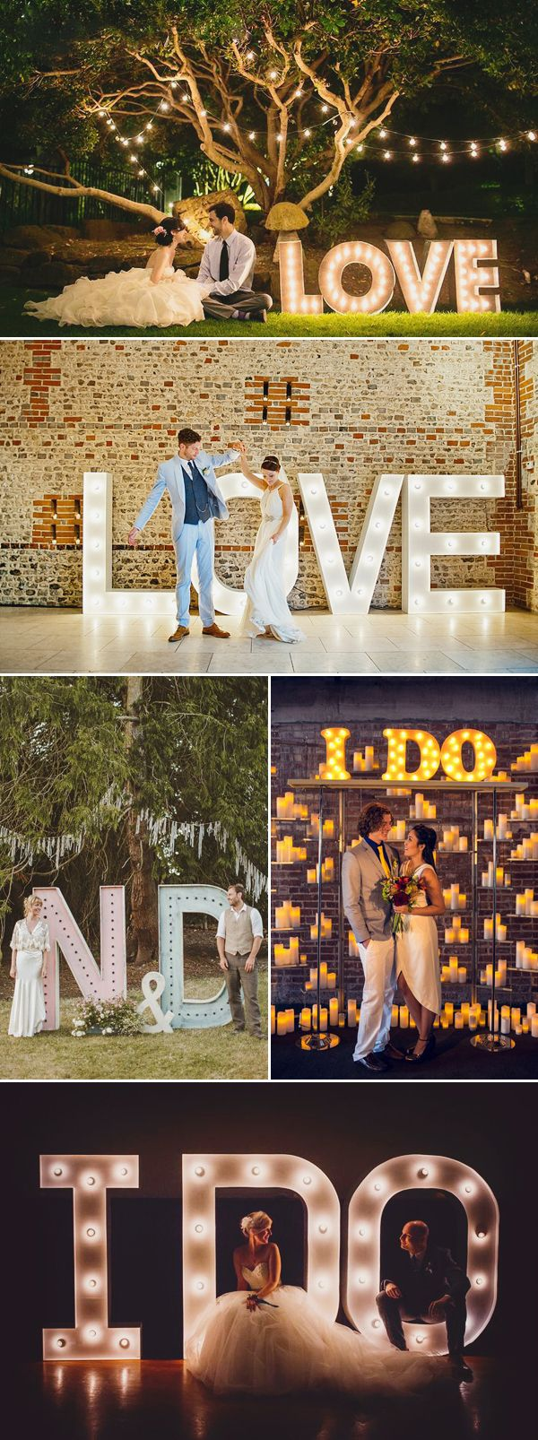 Oh Snap! 45 Creative Wedding Photo Backdrops - Lettering!