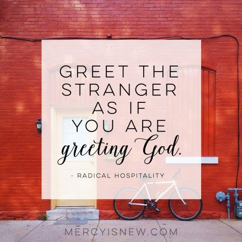 greet the stranger -- radical hospitality book discussion