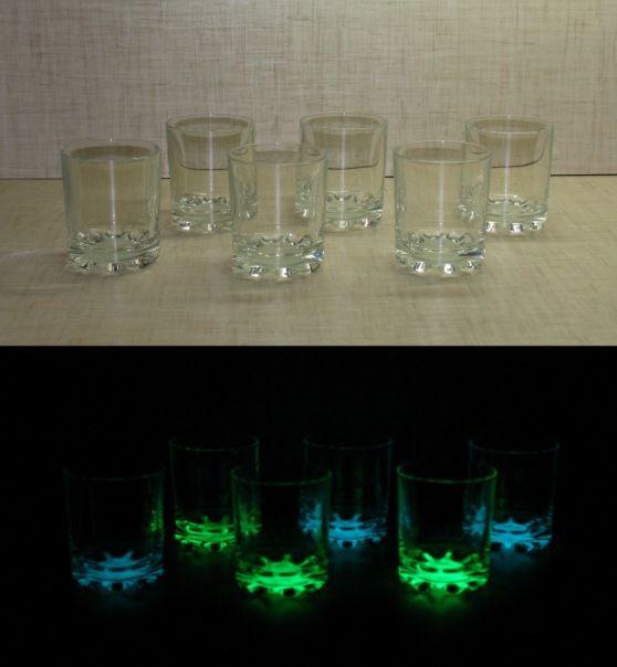Светящиеся рюмки на вечеринку. Светящаяся краска для стекла Acmelight Glass Classic *****  Luminous stemware at the party. Luminous paint for glass Acmelight Glass Classic #светящаяся #краска #вечеринка #luminous #paint #party