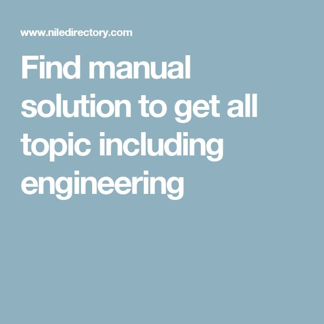 Find manual solution to get all topic including engineering