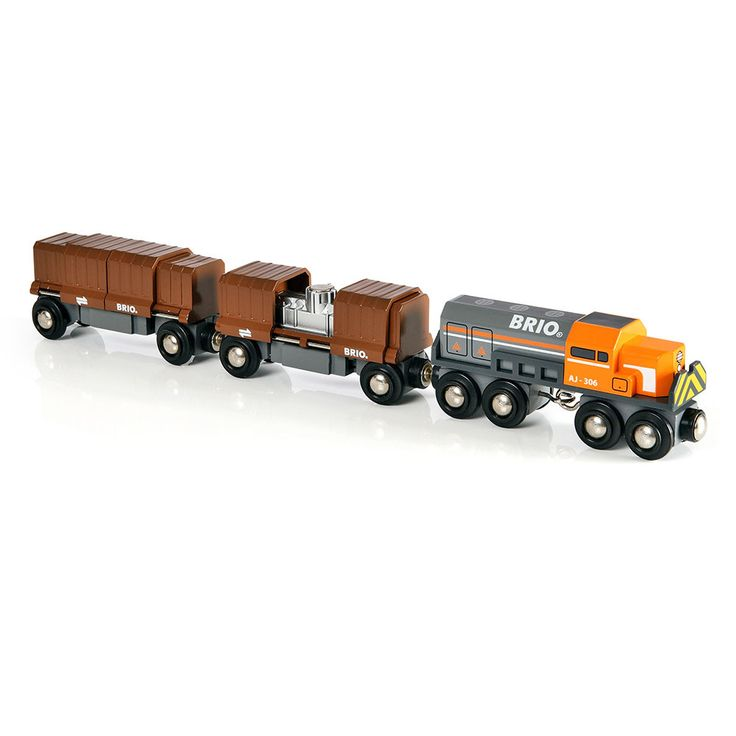BRIO - Wooden Box Car Train Set