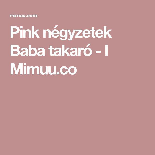 Pink négyzetek Baba takaró - I Mimuu.co