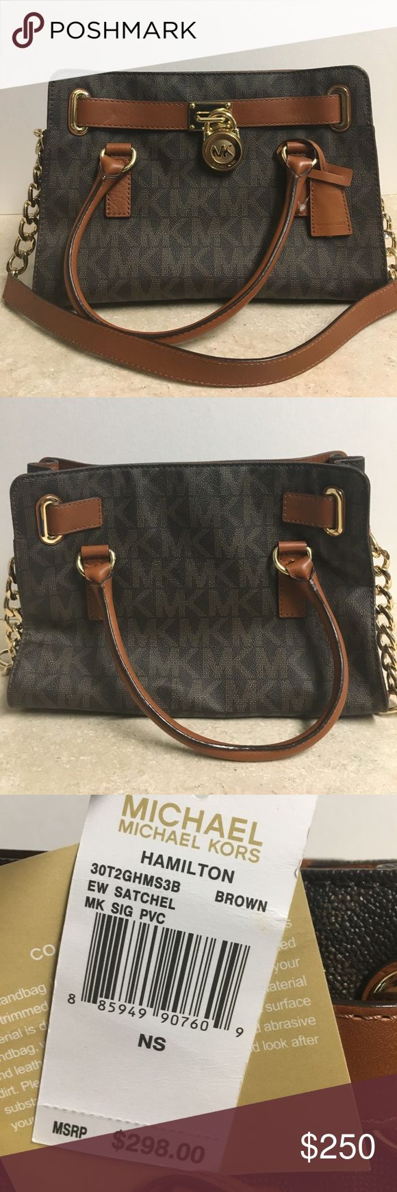 NEW!! Michael Kors Hamilton brown satchel NEW! Michael Kors purse comes with a dustbag Michael Kors Bags Satchels