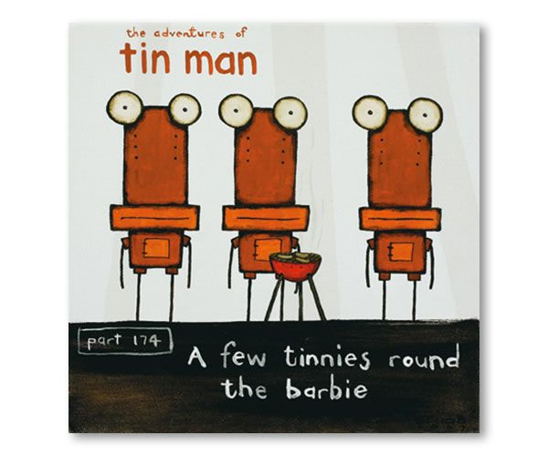 A Few Tinnies Round The Barbie by Tony Cribb - prints