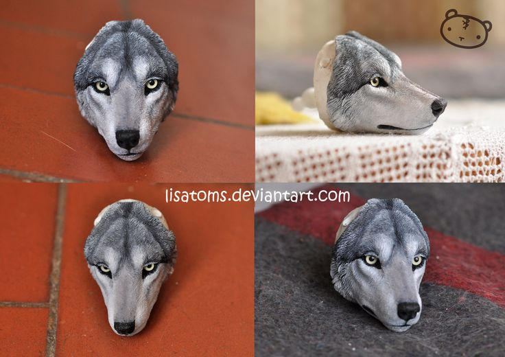 WIP- wolf face by LisaToms.deviantart.com on @DeviantArt