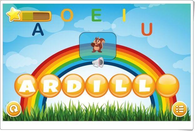 """""""Sonido final"""" es un bonito juego, de aprenderjugando.cl, en el que hay que completar palabras a las que les falta la vocal final. Para avanzar en la capacidad lectora en Infantil."""