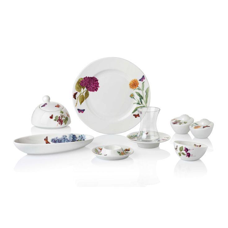 Bernardo Floral Kahvaltı Takımı / Breakfast Time #bernardo #breakfasttime #teatime #vintage #flower #tabledesign