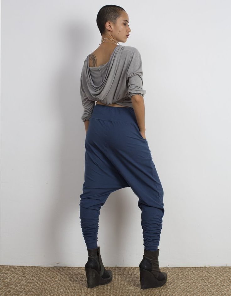 Indigo Low Crotch Pants Organic Cotton
