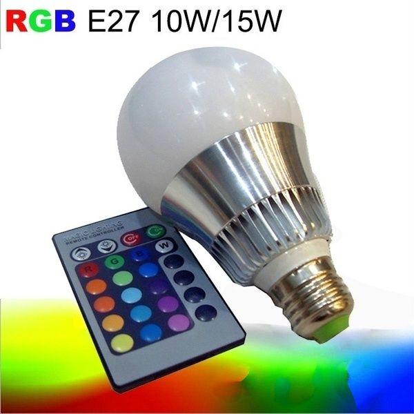 15w Lamp Rgb Led Bulb E27 Led Dimmable Light Bombilla Lampara Lampe Ampoule Lampadine Lampen Luz Ampolleta Lampada 110v 220v Bombillas Led Y Luces