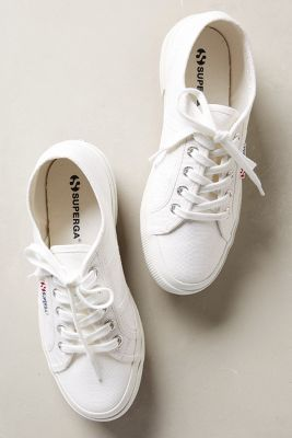 SNEAKERS Superga Classic Sneakers White Sneakers #anthrofave #anthropologie