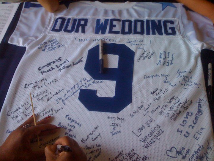 Dallas Cowboys Wedding Jersey Guest Book (#9 - Date of our Wedding)