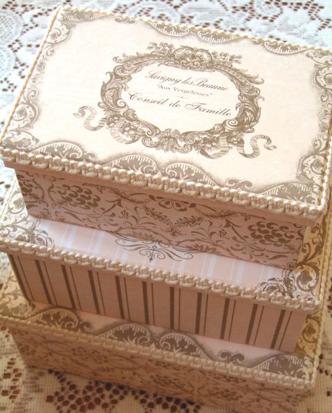 pretty storage boxes pretty nested cardboard boxes too i can always use these for - Decorative Boxes With Lids