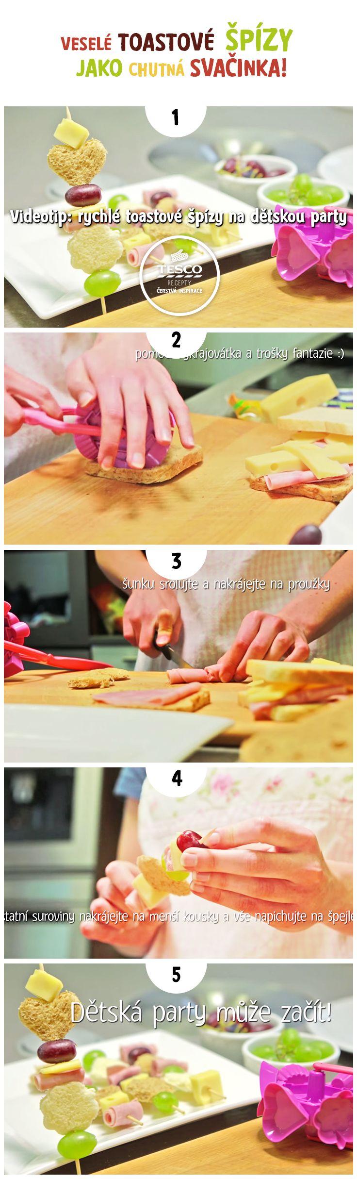 Objevte úžasně veselé toastové špízy a připravte je jako chutnou svačinku!