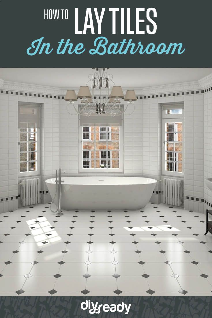 Putting Tiles In Bathroom - How to lay tile in bathroom diy home improvement projects