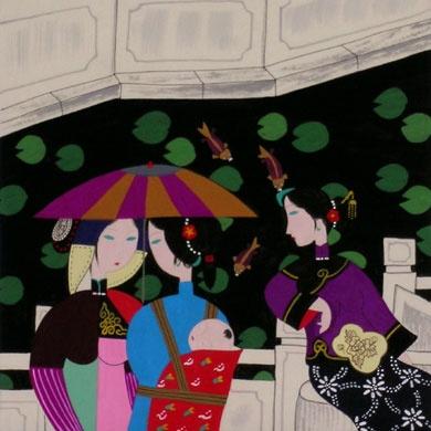Painting by Qian Li-Qun (who also paints under the pen name of Yian Ren).