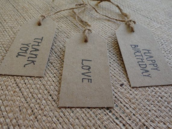 Natural Brown Kraft Bomboniere Tags Stamped by CreateTheDate, $0.95