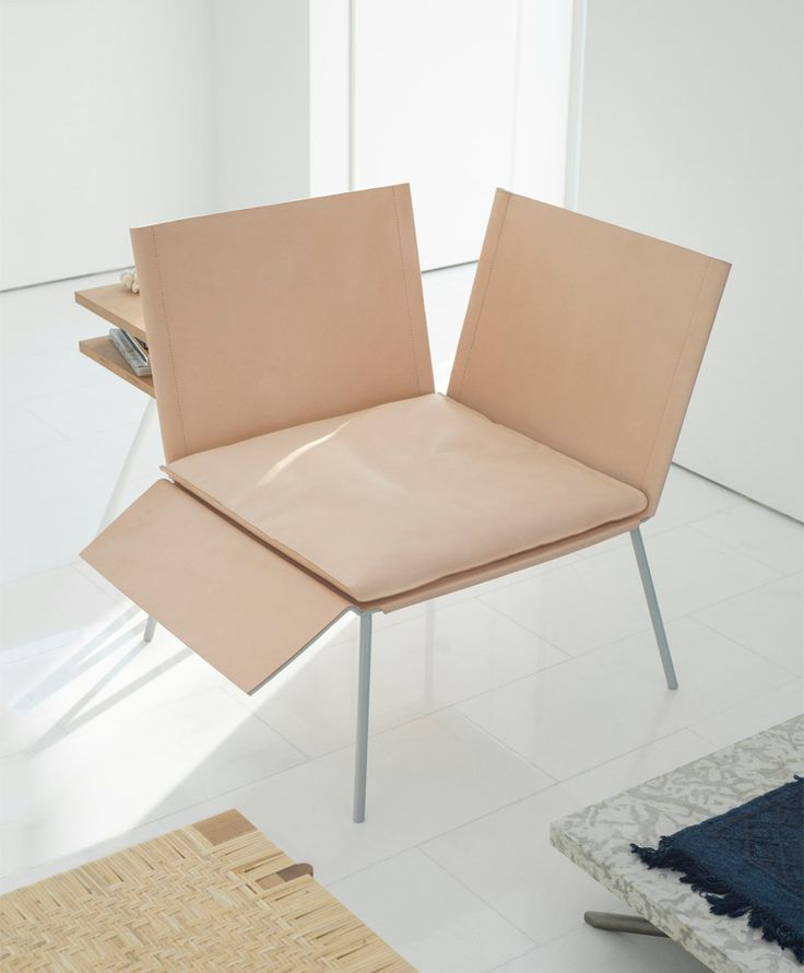 Fougere's Saddle Chair has a double-backed seat, designed to encourage different ways of sitting
