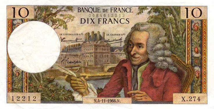 Collection Billet Banque de France - F.62 - 10 francs Voltaire