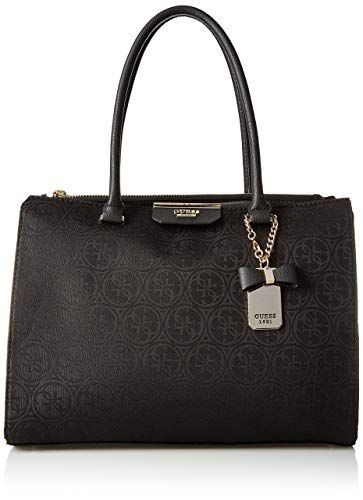 06f720b3d0df Chic GUESS Ryann Jacquard Society Satchel Bla online. [$118.00] findanew  from top store