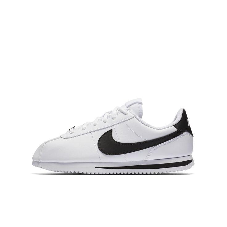 Nike Cortez Basic SL Big Kids' Shoe Size 6.5Y (White)