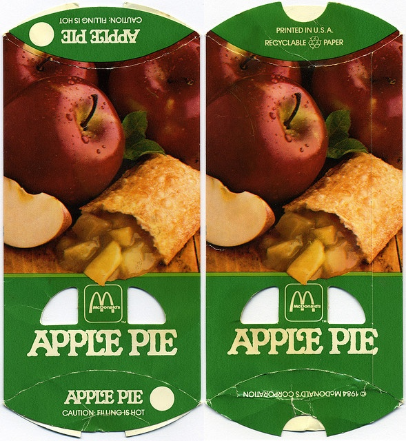 McDonalds - Apple Pie package box - 1984 by JasonLiebig, via Flickr