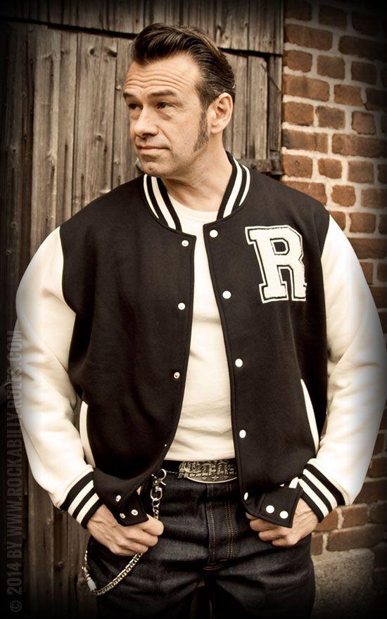 Rock'n'Roll meets Sports! Rumble59 Male Sweat College Jacke - Rockabilly-Rules.com #Collegejacke #Rock'n'Roll #Rumble59