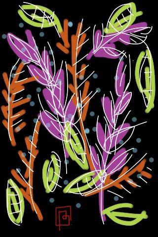 BRUNO OST   iPhone Sketch   Natureza Noturna / Nature at Night #brunoost #portfolio #illustration #iphone #sketch