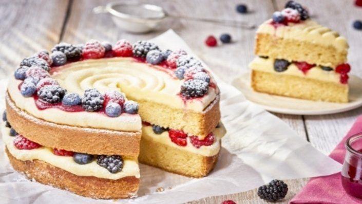 Forest Fruit Cake | Recipes | Food Network UK