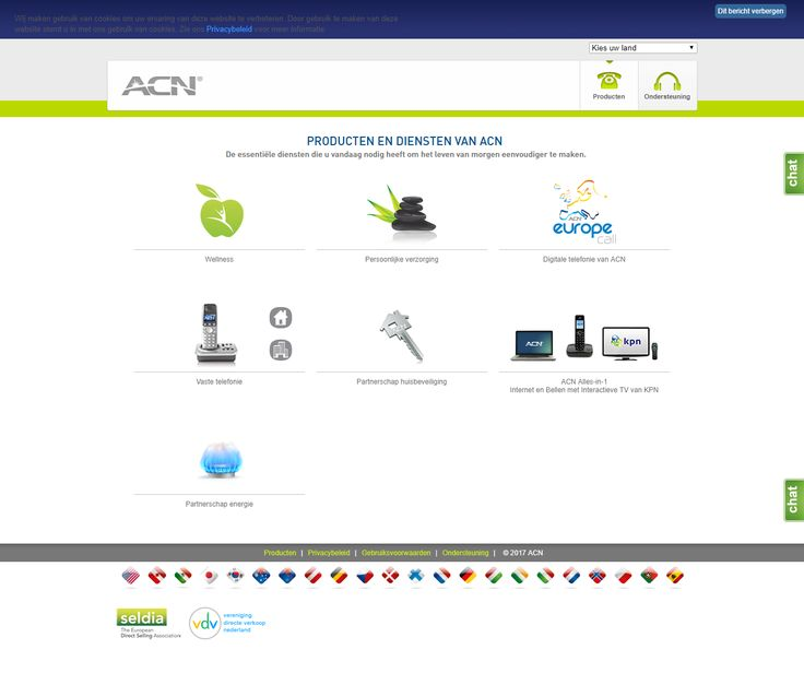 ACN portfoliio provides a variety of products and services taht helps to make everyday life easier. It includes wellness and personal care products, telecommunication and internet services as well as home security services. Furthermore, ACN offers individuals with a powerful business ownership opportunity and helps them become entrepreneurs and earn profit.