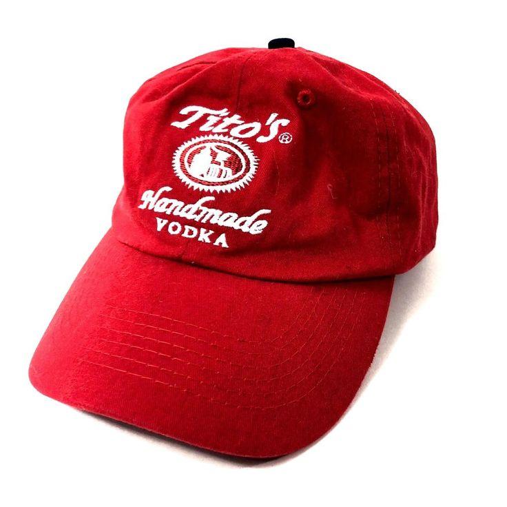 Tito's Handmade Vodka Austin Texas Baseball Cap Strapback Hat Red Adj One Size #Unbranded #BaseballCap