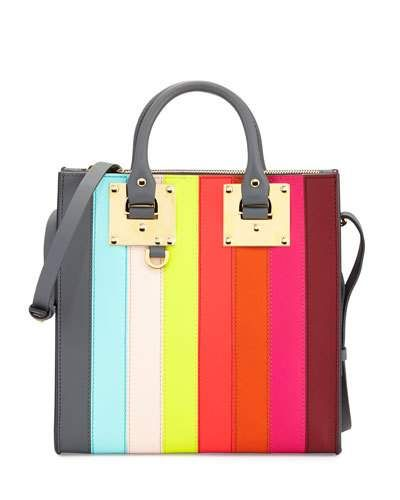 New V36HB Sophie Hulme Albion Square Tote Bag Rainbow @ Price $975 At:Neiman Marcus