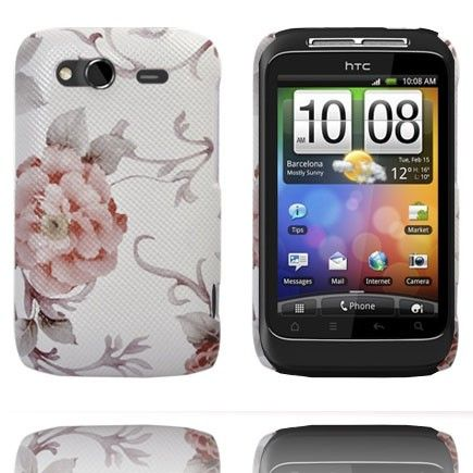 Valentine (Lyse Rosa Rose) HTC Wildfire S Deksel