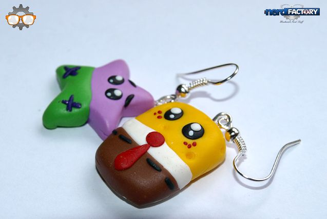 Spongebob earrings hand-made!