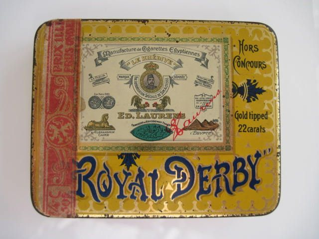 Excited to share the latest addition to my #etsy shop: Royal Derby Gold Tipped Egyptian Cigarette Tin (20/empty) - by Ed Laurens c.1930 http://etsy.me/2EtBg08 #vintage #collectables #cigarettetin #tobaccocollectibles