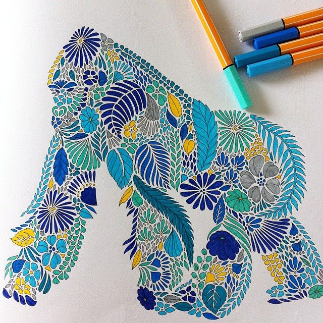 Animal Kingdom Colouring Book Gorilla Shareig Dernier Jour De Vacances Alors Je Traine