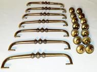 Lot 21 VTG Brass Salvage Cabinet/Dresser Hardware Draw Handle Pulls & Knobs