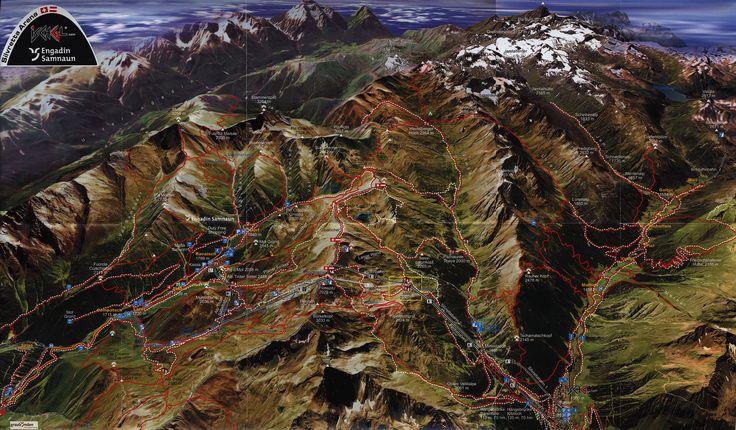 https://flic.kr/p/Rkk8zr | Engadin Samnaun Panoramakarte; 2016_2, Graubünden, Switzerland