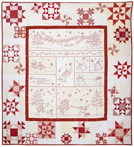 Redwork Quilt Patterns Christmas : Redwork Christmas quilt - I am doing mine in blue thread ...