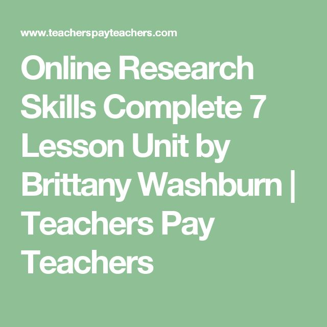 online research skills complete 7 lesson unit teacher resume - Teacher Resume Skills