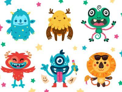 8 Cute Monsters