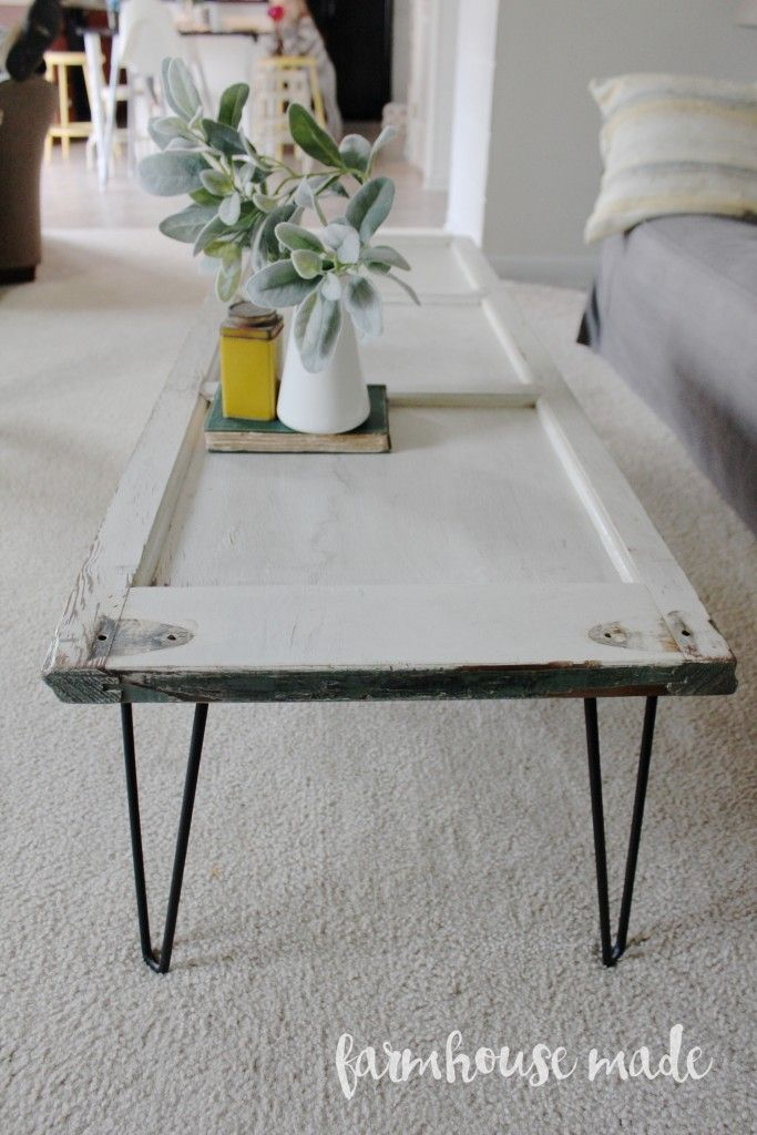 Ordinaire DIY Coffee Table Using A Salvaged Shutter