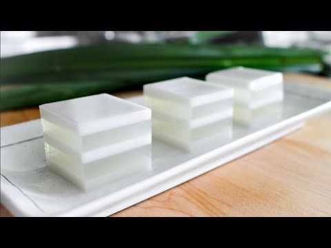 So excited to share with you the traditional recipe that inspired my wildly popular Mango Coconut Jelly Cubes recipe! In this dessert, there are two layers r...