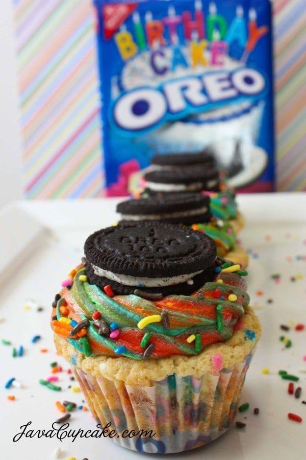 Wondrous Rainbow Funfetti Birthday Cake Oreo Cupcakes Recipe Oreo Funny Birthday Cards Online Alyptdamsfinfo